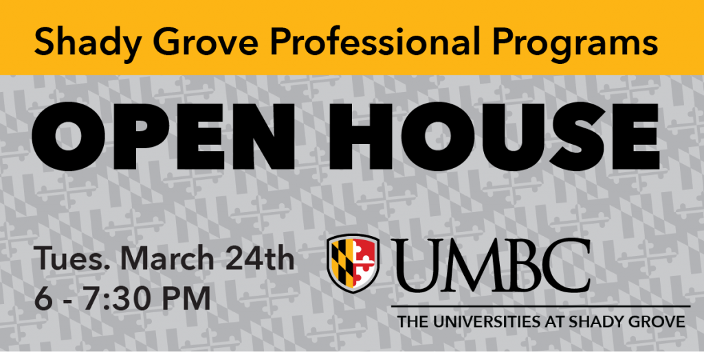 Shady Grove Professional Programs Open House: Tuesday, March 24th