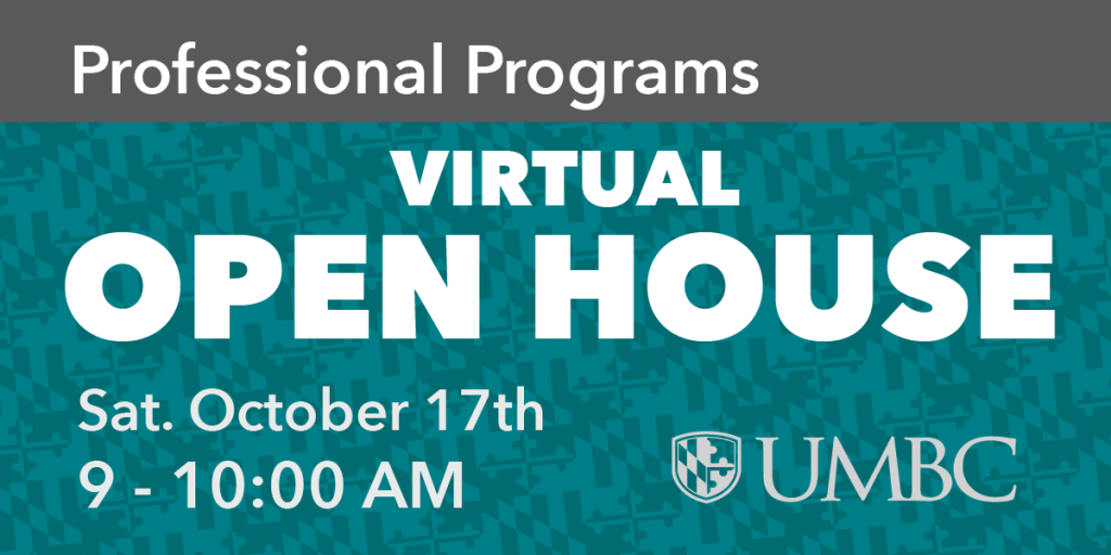 Professional Programs Virtual Open House - October 17th 9 to 10 AM