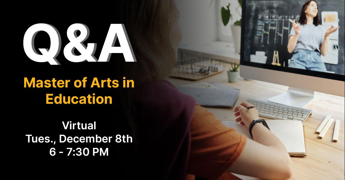 MAE Virtual Q & A Session - Tuesday, December 8 at 6:00 P.M.