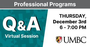 Professional Programs Q and A. Thursday December 3rd. 6 - 7 PM