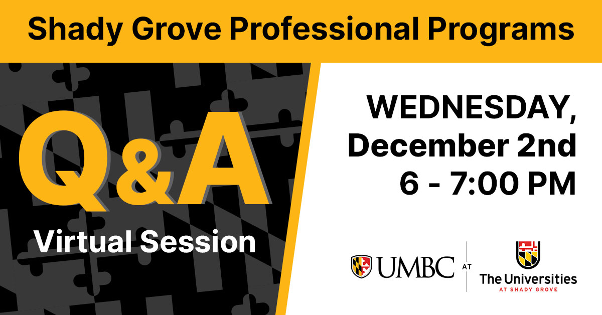 Shady Grove Q and A Session. Wednesday December 2, 6 - 7 PM