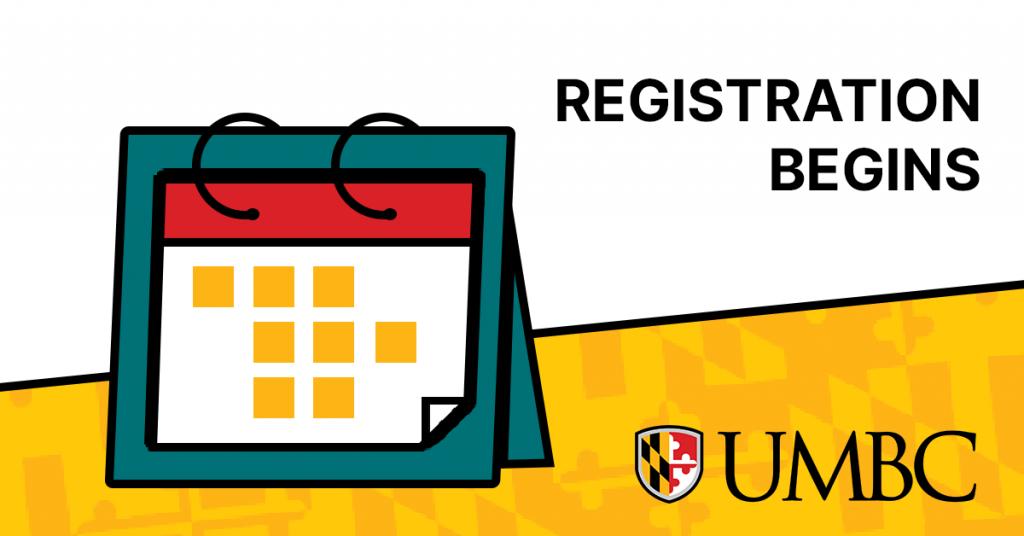 Calendar next to text saying Registration Begins