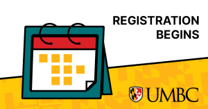 Calendar next to text saying Registration Begins