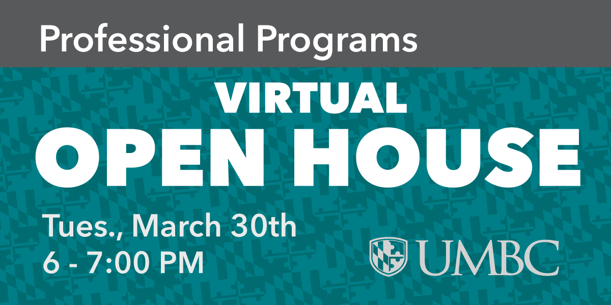Professional Programs Virtual Open House. Tuesday March 30, 6 to 7 P.M.