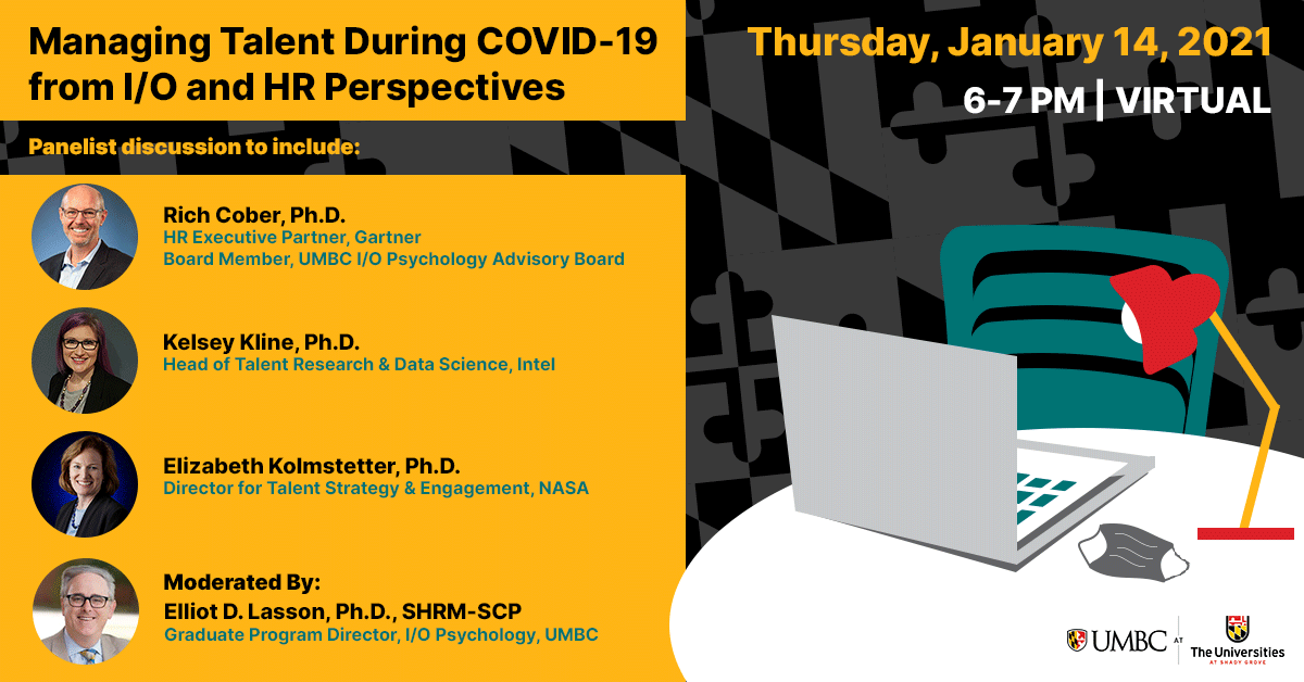 Managing Talent During COVID from I/O and HR Perspectives. Thursday January 14th 6 to 7 pm
