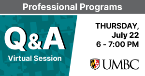 Professional Programs Virtual Q and A. Thursday July 22. 6 to 7 PM